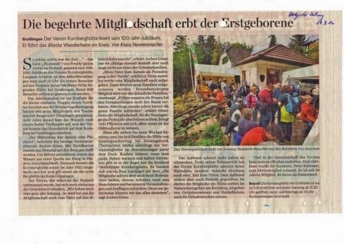 100 Jahre - Zeitungsartikel
